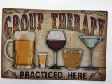 TSCZHA_1001-236 - GROUP THERAPY PRACTICED HERE tin sign