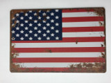 TSCZHA_MET16198 - Old Glory Flag tin sign