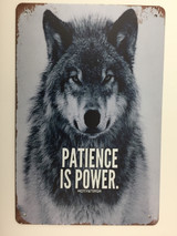 TSCZHA_TM2-88 - PATIENCE IS POWER... WOLF tin sign