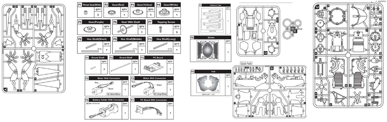 Parts - KINGII DRAGON ROBOT REPLACEMENT PARTS - Page 1 - OWI