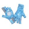 Simms Solarflex SunGlove Hex Camo Sky Blue