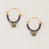 Small Beaded Hoop Earrings