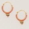 Medium Beaded Hoop Earrings