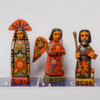 Small Hand Carved Wooden Saint Statues