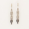Facted Metal & Triple Spear Earrings