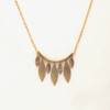Brass Hammered Leaves Necklace
