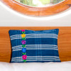 Indigo Denim Corte Pillows with Embroidery