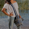 Crocheted Bucket Bag with Tassel