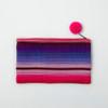 Bright Stripe Handwoven  Cosmetic