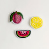 Embroidered Fruit Pins