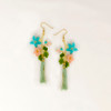 Flowers with Tassel Earring