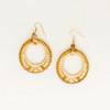 Golden Double Hoop Earring