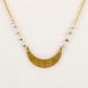 Labradorite and moon fair trade necklace