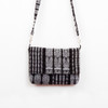 Black & White Ikat Crossbody Bag