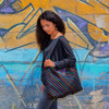 Multi Color Striped Hobo Bag