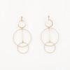 Triple Hoop Post Earrings