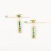 Chrysocolla Rondell Post Earrings