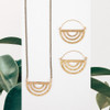 Brass Rainbow Hoops