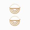 Brass Rainbow Hoops