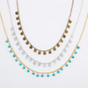 Tiny Disc Dangle Necklace