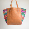 Boho Zunil and Leather Tote- 1