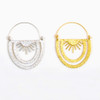 Rainbow Rays Hoop Earrings