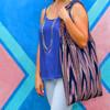 Indigo Natural Dye Braided Handle Bag