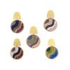 Beaded & Brass Flow Post Earrings