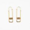 Framed Brass Cube Earrings