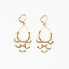 Scalloped Brass Dangle Earring
