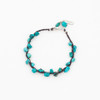 Linen and Turquoise Bracelet
