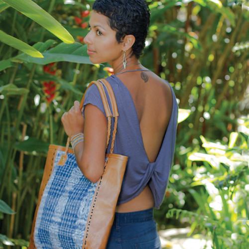 Blue Corte Leather Bag*