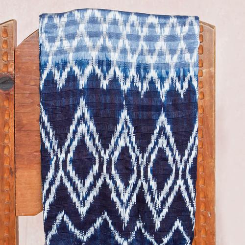 Indigo handwoven natural dye scarf.