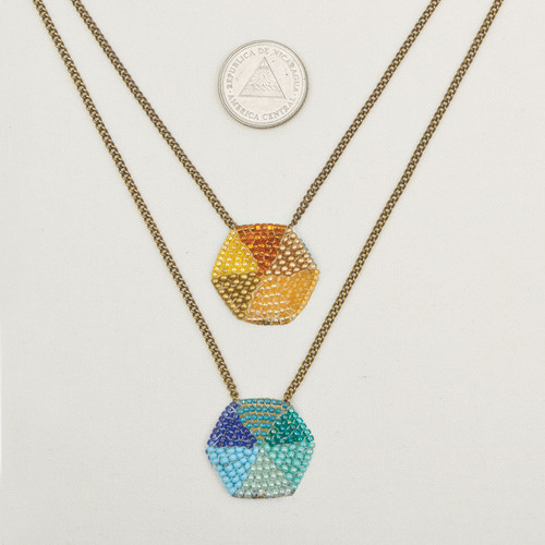 Double Hex Necklace