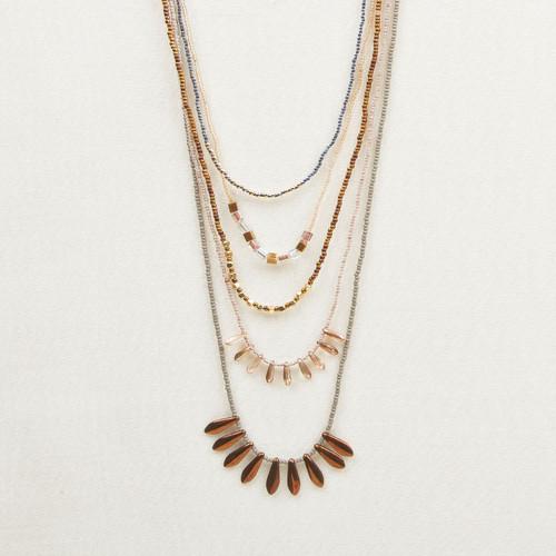 Multi Strand Spike Necklace