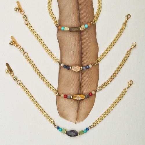 Chain & Stone Bracelet