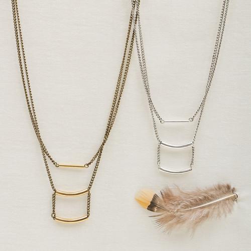 Triple Tube Necklace