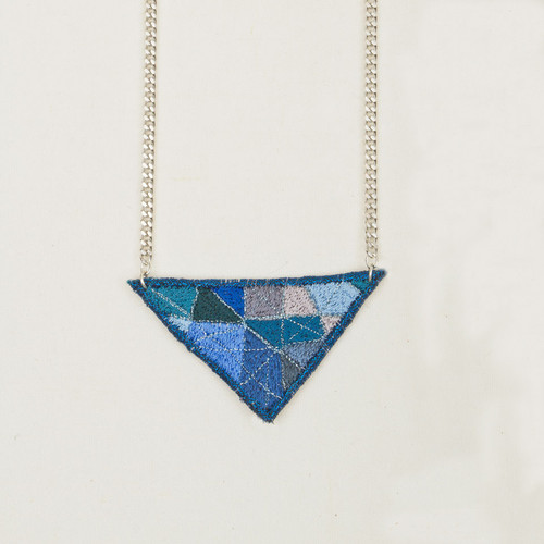 Embroidered Geo Necklace