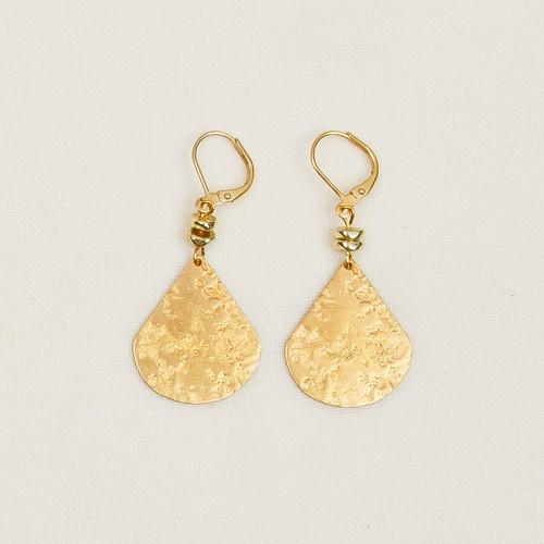 Fair Trade Granite Finish Teardrop Earrings