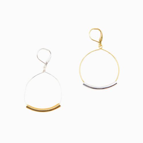 Bar & Hoop Dangle Earrings