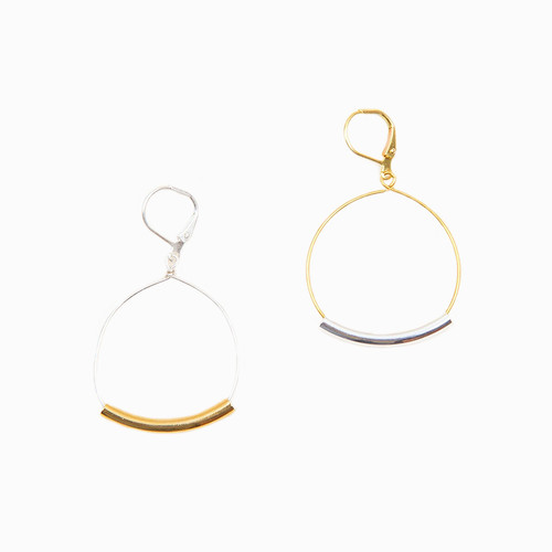 Bar & Hoop Dangle Earrings