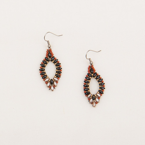 Duo Open Oval Earrings