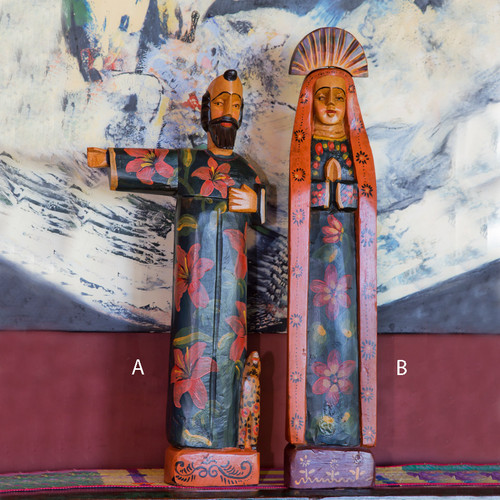 Large Wooden Saint Statues