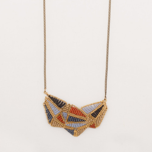 Beaded Geometry Necklace