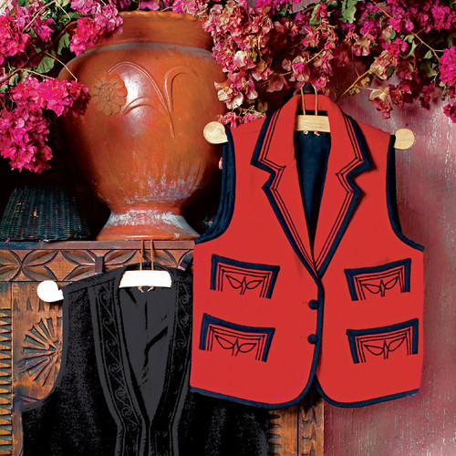 Solola Embroidered Wool Vest