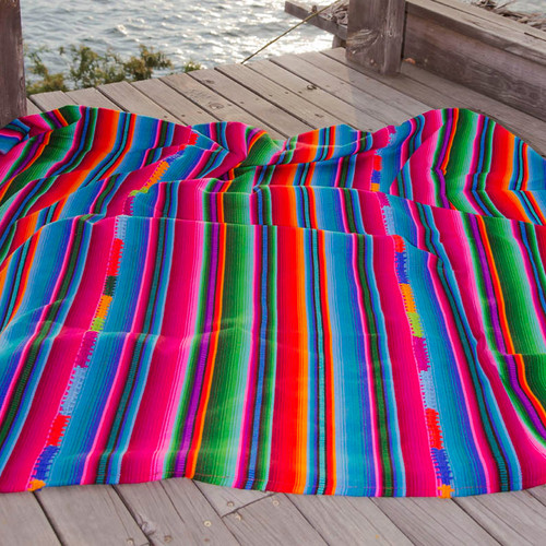 Handwoven Rainbow Blanket