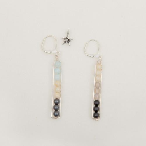 Stone Stack Earrings