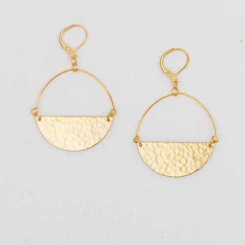Half Moon Hoop Earrings