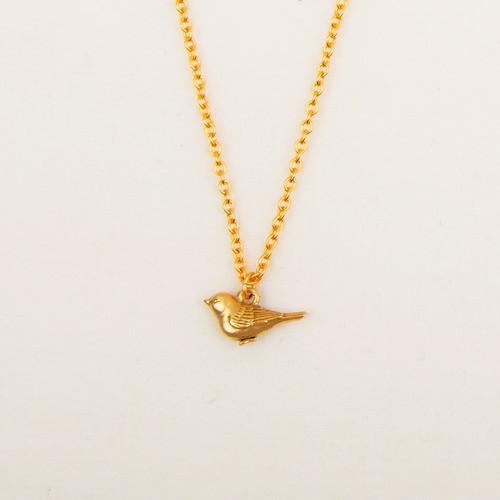 Bird Charm Necklace