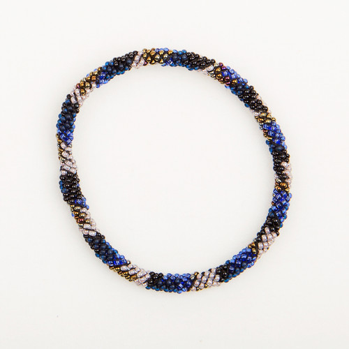 Thin Beaded Bangle